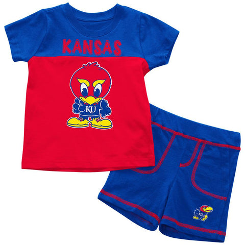 Kansas Jayhawks Colosseum BABY INFANT Jr. Jay Cotton Shorts & Tee Outfit