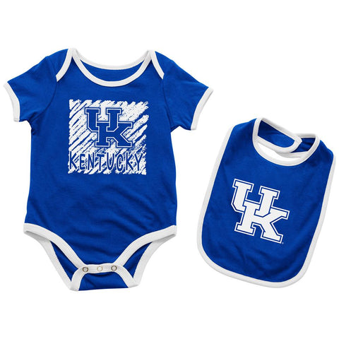 Kentucky Wildcats INFANT BABY One Piece Bodysuit Outfit & Bib Set
