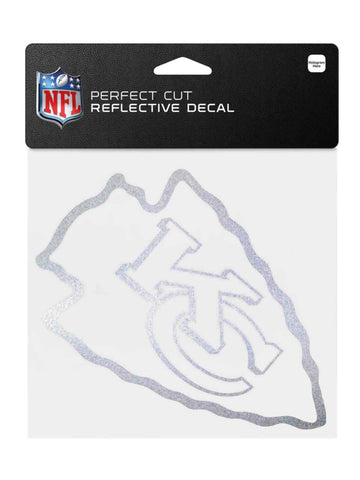 "Kansas City Chiefs WinCraft Sports Silver Perfect Cut Relective Decal(4"" x 6.5"")"