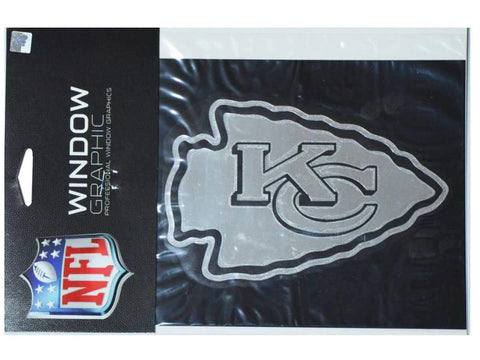 "Kansas City Chiefs Rico Industries Silver Precision-Cut Vinyl Decal(3.5"" x 5.5"")"