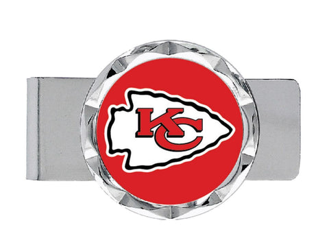 "Kansas City Chiefs Aminco Red White Red Silver Circle Money Clip (.75"" x 2"")"