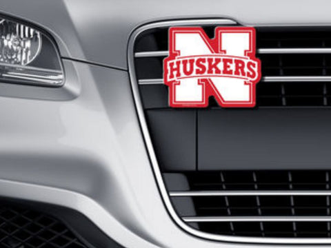 Nebraska Cornhuskers WinCraft Red White Logo on the Gogo Car Grille Emblem