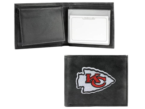 Kansas City Chiefs Rico Industries Embroidered Black Leather Bi-Fold Wallet