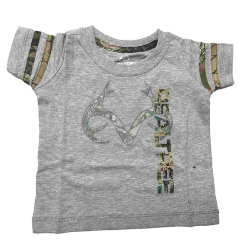 Realtree Camouflage Colosseum BABY INFANT Gray Realtree Antlers Cotton T-Shirt