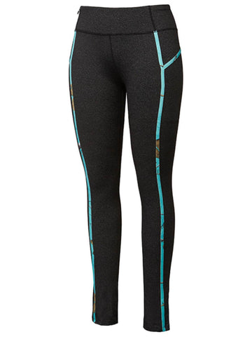 Realtree Camouflage Colosseum WOMEN Black Teal Athletic Ankle Length Leggings