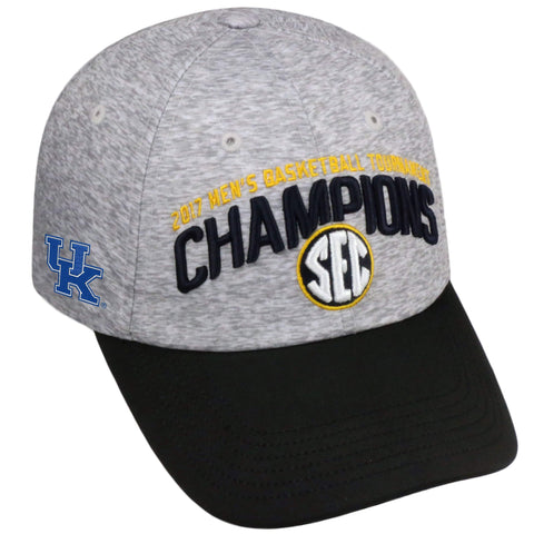 Kentucky Wildcats 2017 SEC Basketball Tournament Champions Locker Room Hat Cap