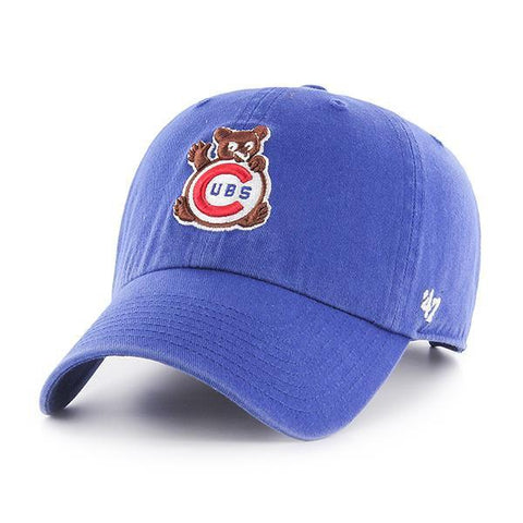 Chicago Cubs 47 Brand Blue Retro 1969 Cubbie Bear Clean Up Adjustable Hat Cap