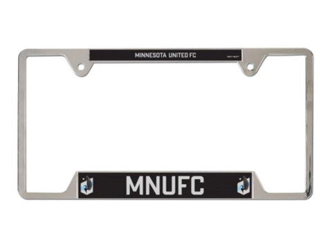 "Minnesota United FC WinCraft Black ""MNUFC"" Metal License Plate Frame"