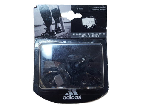 Shop Adidas Black and Silver Baseball Softball Steel Cleats with Screws (28 Pieces)