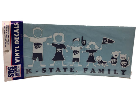 Kansas State Wildcats SDS Design Purple & White Whole Family Vinyl Decal Pack