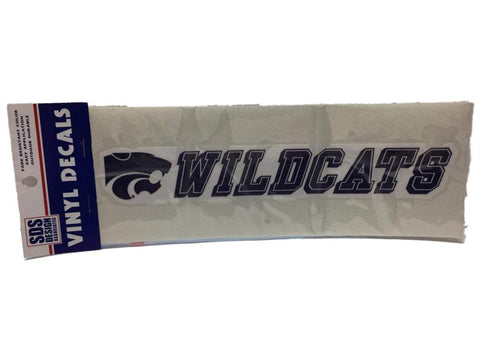 "Kansas State Wildcats SDS Design Purple & White Vinyl Decal (10"")"