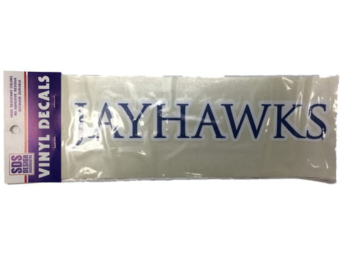 "Kansas Jayhawks SDS Design Blue & White Vinyl Decal (10"")"