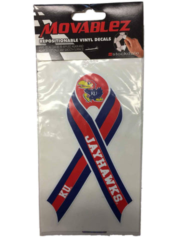 Kansas Jayhawks Stockdale Red White & Blue Ribbon Movable Vinyl Decal