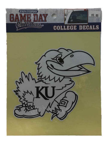 Kansas Jayhawks Jenkins Enterprises White & Black Vinyl Decal