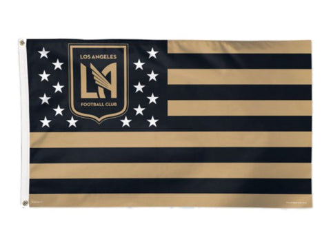 Los Angeles FC WinCraft Black & Gold Stars & Stripes Deluxe Indoor Outdoor Flag