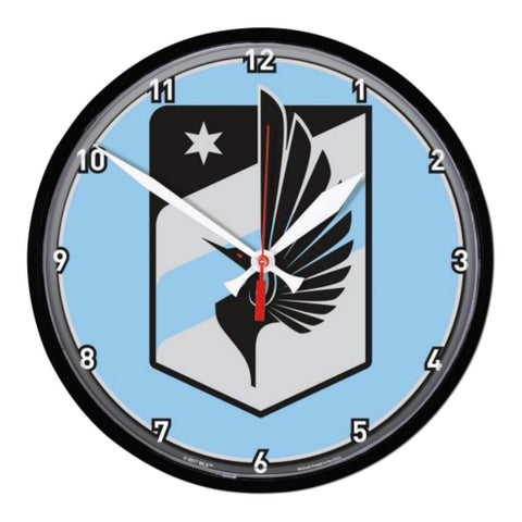"Minnesota United FC WinCraft Light Blue & Gray Plastic Round Wall Clock (12"")"