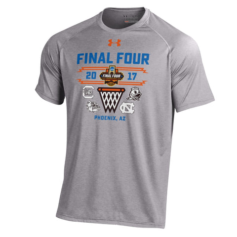 Shop 2017 Final Four Basketball Under Armour March Madness Gray Net T-Shirt