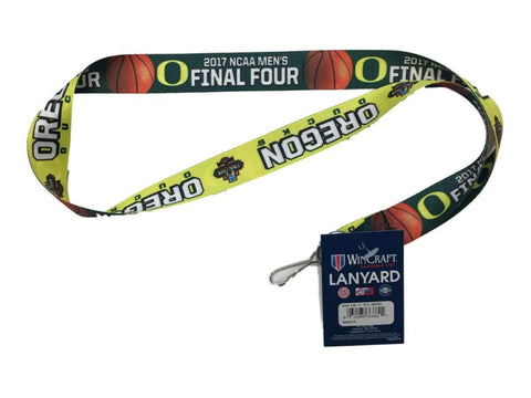 Oregon Ducks 2017 NCAA Men's Final Four Basketball Two-Tone Durable Lanyard
