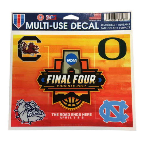 Shop 2017 NCAA Men's Final Four Basketball WinCraft Four Team Multi-Use Decal - Sporting Up