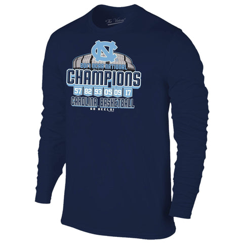 North Carolina Tar Heels 2017 Basketball Champions Arena Banner LS T-Shirt
