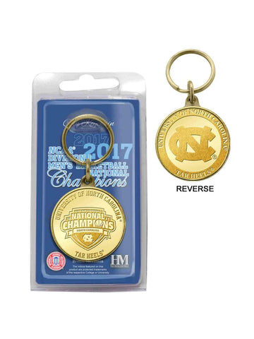 Shop North Carolina Tar Heels 2017 Basketball Champions Minted Bronze Coin Keychain - Sporting Up