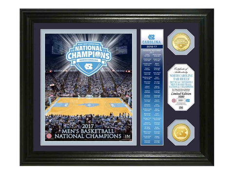 "Shop North Carolina Tar Heels 2017 Basketball Champs ""Banner"" Bronze Coin Photo Mint"