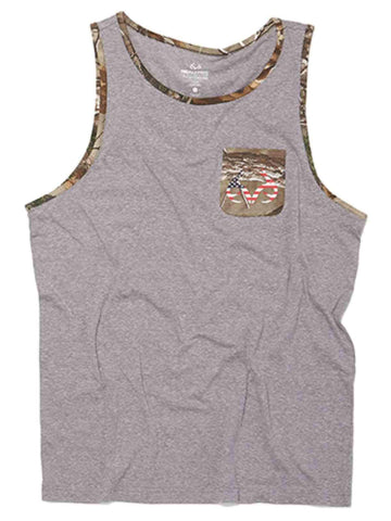 Shop Realtree Camouflage Men's Heather Gray & Camo Revolution Tank Top T-Shirt