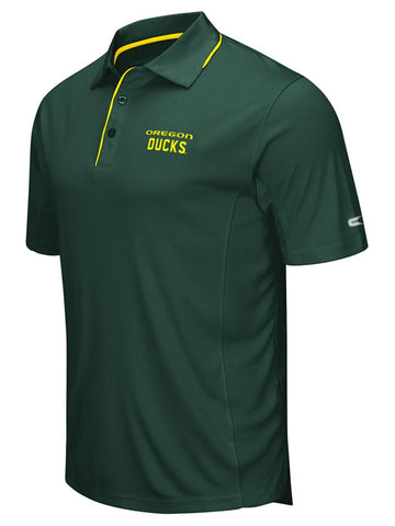 Oregon Ducks Colosseum Green Polyester Performance Short Sleeve Golf Polo Shirt