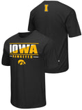 Iowa Hawkeyes Colosseum Black Lightweight Breathable Active Workout T-Shirt - Sporting Up