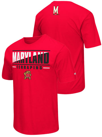 Maryland Terrapins Colosseum Red Lightweight Breathable Active Workout T-Shirt