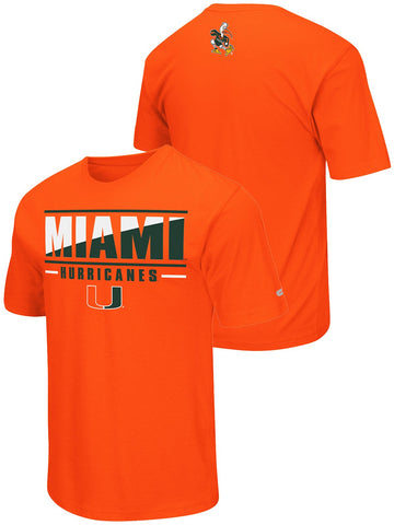 Miami Hurricanes Colosseum Orange Lightweight Breathable Active Workout T-Shirt