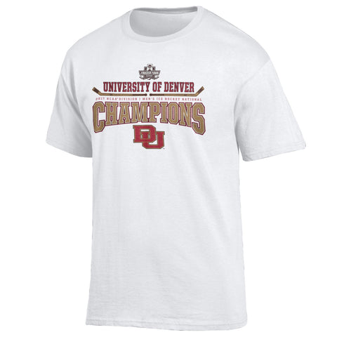 Denver Pioneers 2017 Hockey Frozen Four National Champions Locker Room T-Shirt