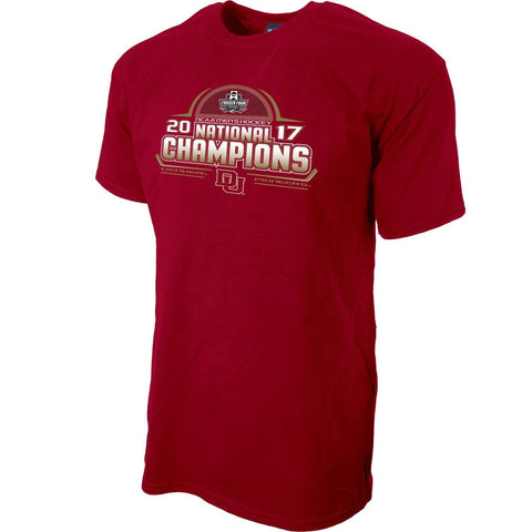 Shop Denver Pioneers 2017 College Hockey Frozen Four Champions Red T-Shirt - Sporting Up