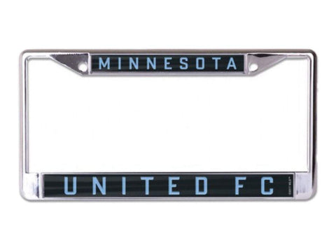 Shop Minnesota United FC WinCraft Black & Light Blue Metal Inlaid License Plate Frame - Sporting Up