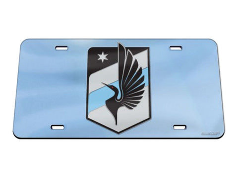 Shop Minnesota United FC MLS WinCraft Light Blue Crystal Mirror License Plate Cover