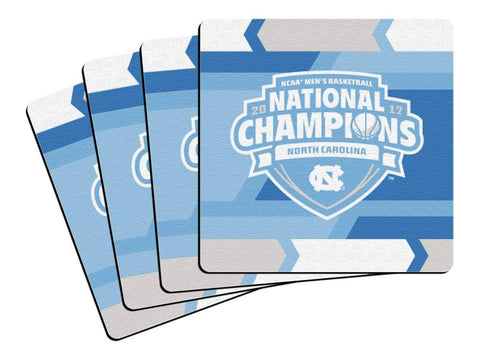 Shop North Carolina Tar Heels 2017 NCAA Basketball Champions Coasters (4 Pack)