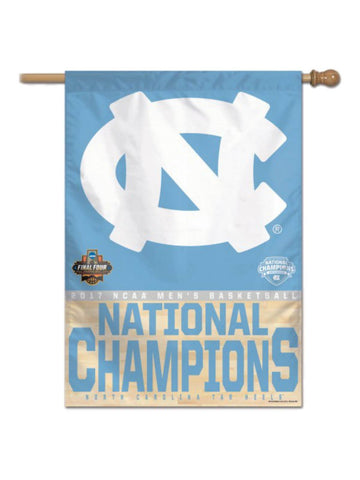 "North Carolina Tar Heels 2017 NCAA Basketball Champions Vertical Flag (28""x40"")"