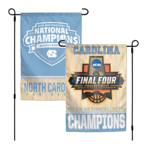 Shop North Carolina Tar Heels 2017 NCAA Basketball Champions 2-Sided Garden Flag