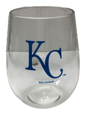 Shop Kansas City Royals MLB Boelter BPA Free Clear Stemless Plastic Wine Glass (20oz)