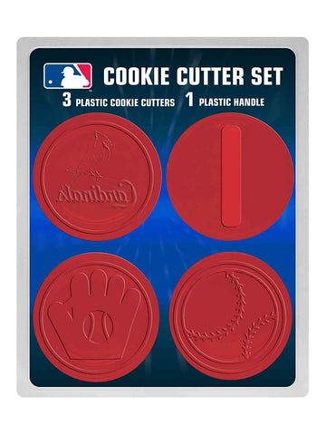 Shop St. Louis Cardinals MLB Boelter Brands 3 Red Plastic Cookie Cutters & Handle Set