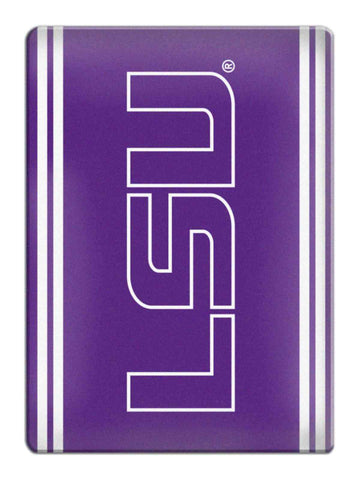 LSU Tigers NCAA Boelter Brands Purple & White Ceramic Refrigerator Magnet