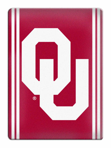 Shop Oklahoma Sooners NCAA Boelter Brands Red & White Ceramic Refrigerator Magnet