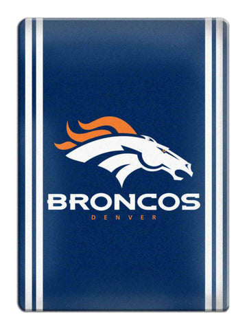 Shop Denver Broncos NFL Boelter Brands Navy & White Ceramic Refrigerator Magnet - Sporting Up