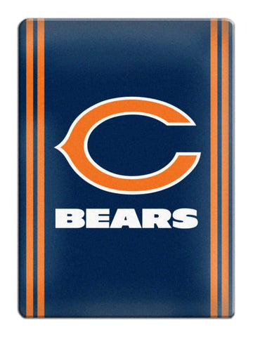 Shop Chicago Bears NFL Boelter Brands Navy & Orange Ceramic Refrigerator Magnet