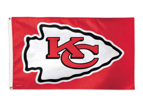 Kansas City Chiefs NFL WinCraft Red Deluxe Indoor Outdoor Flag (3' x 5')