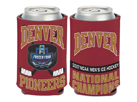 Denver Pioneers 2017 NCAA Men's Hockey Frozen Four Champions Can Cooler Koozie