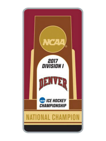 Denver Pioneers 2017 NCAA Men's Hockey Frozen Four Champions Trophy Lapel Pin