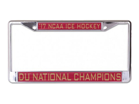 Shop Denver Pioneers 2017 NCAA Men's Frozen Four Champions Inlaid License Plate Frame - Sporting Up