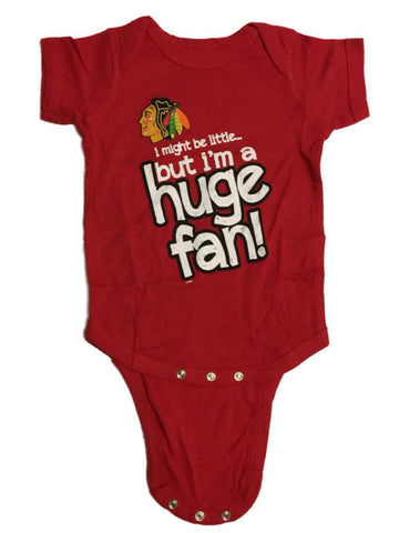 Shop Chicago Blackhawks BABY INFANT Red Huge Fan Lap Shoulder One Piece Outfit