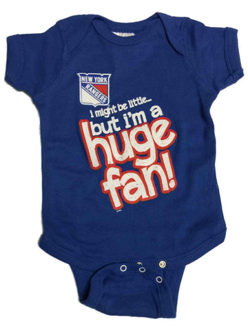 Shop New York Rangers SAAG BABY INFANT Blue Huge Fan Short Sleeve One Piece Outfit